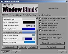 Windows Blinds 7.4 - Windows Görünüm Kişileştirme Programı